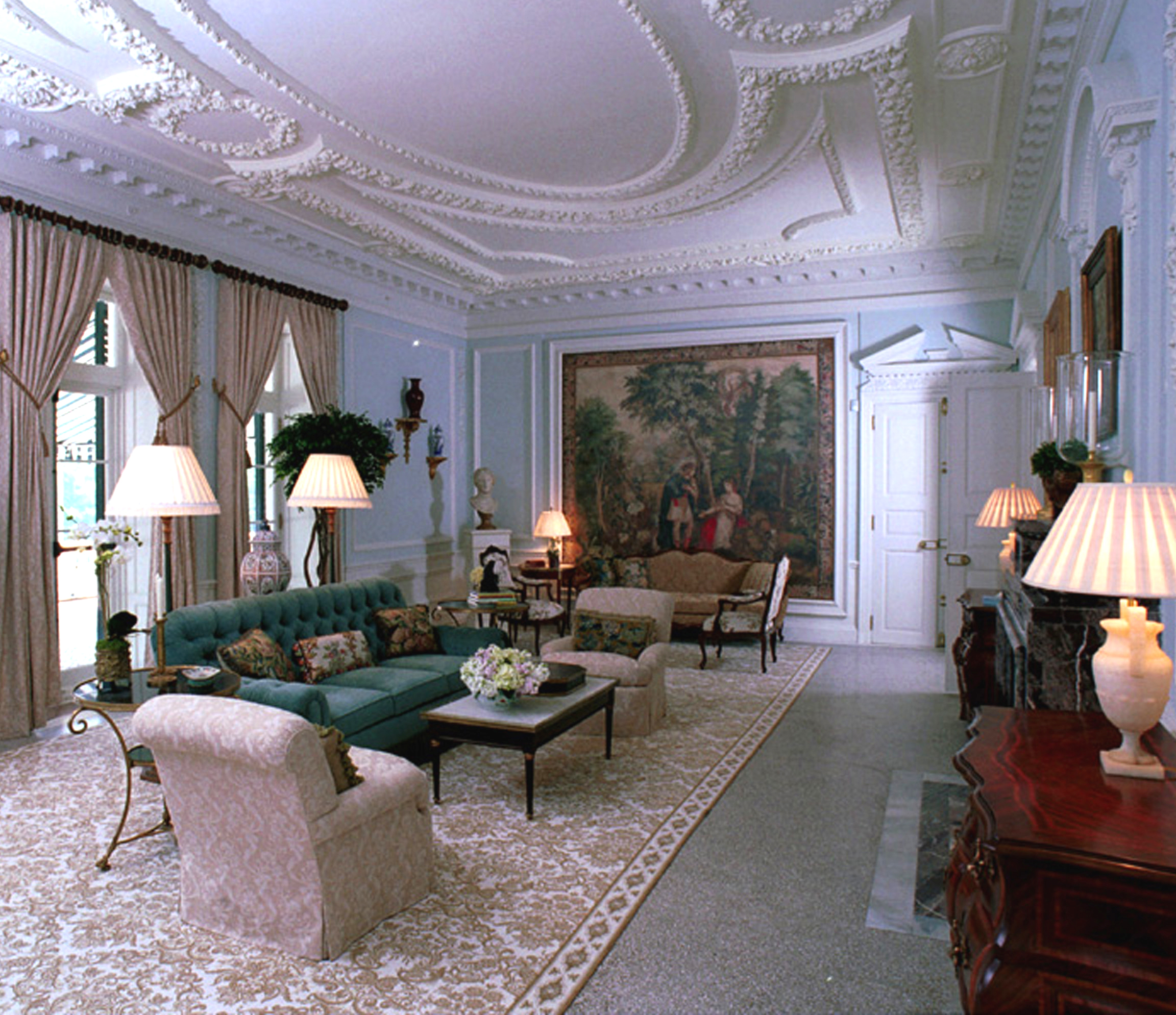 The Mount's drawing room after restoration. Photographer: Jon Crispin