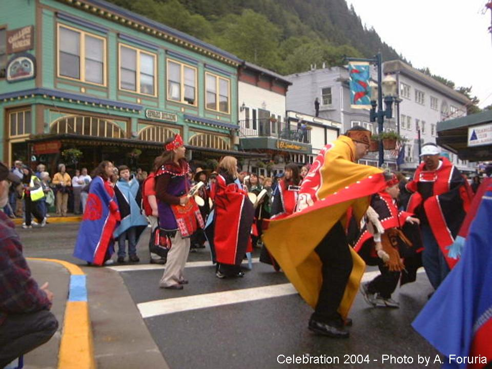 Traditional dancing at a celebration in Juneau, Alaska