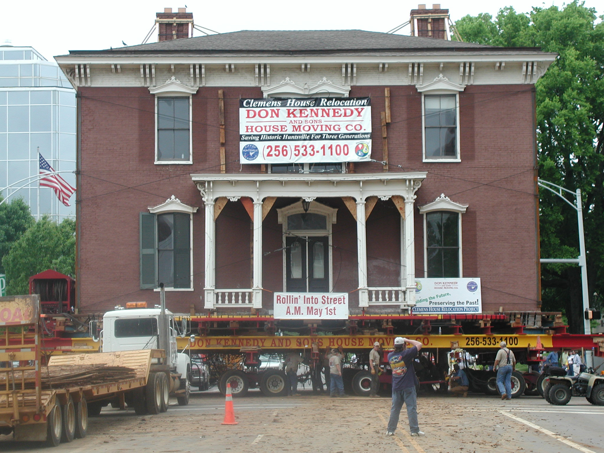 Huntsvilles's 1820s era-Jeremiah Clemens house was saved from inappropriate development, moved, and reused as offices.