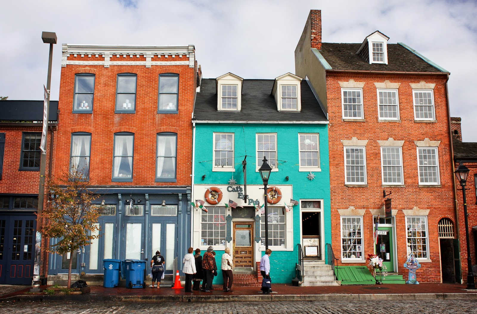 Historic buildings in the Fells Point neighborhood, Baltimore, MD