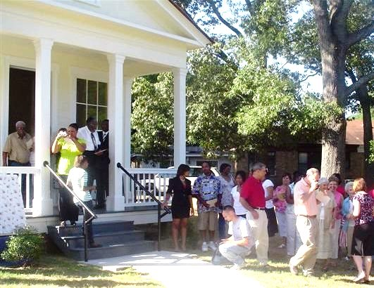 Camden's historic Leake-Ingram Building (1860), which became a Freedmen's Bureau Office in 1865, was rededicated in June 2009 as part of local Juneteenth celebrations following restoration and interpretation.