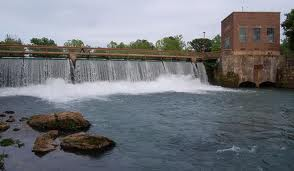 A dam built by the Mammoth Spring Milling Company in the late 1880s is one of the major attractions at  Mammoth Spring State Park.