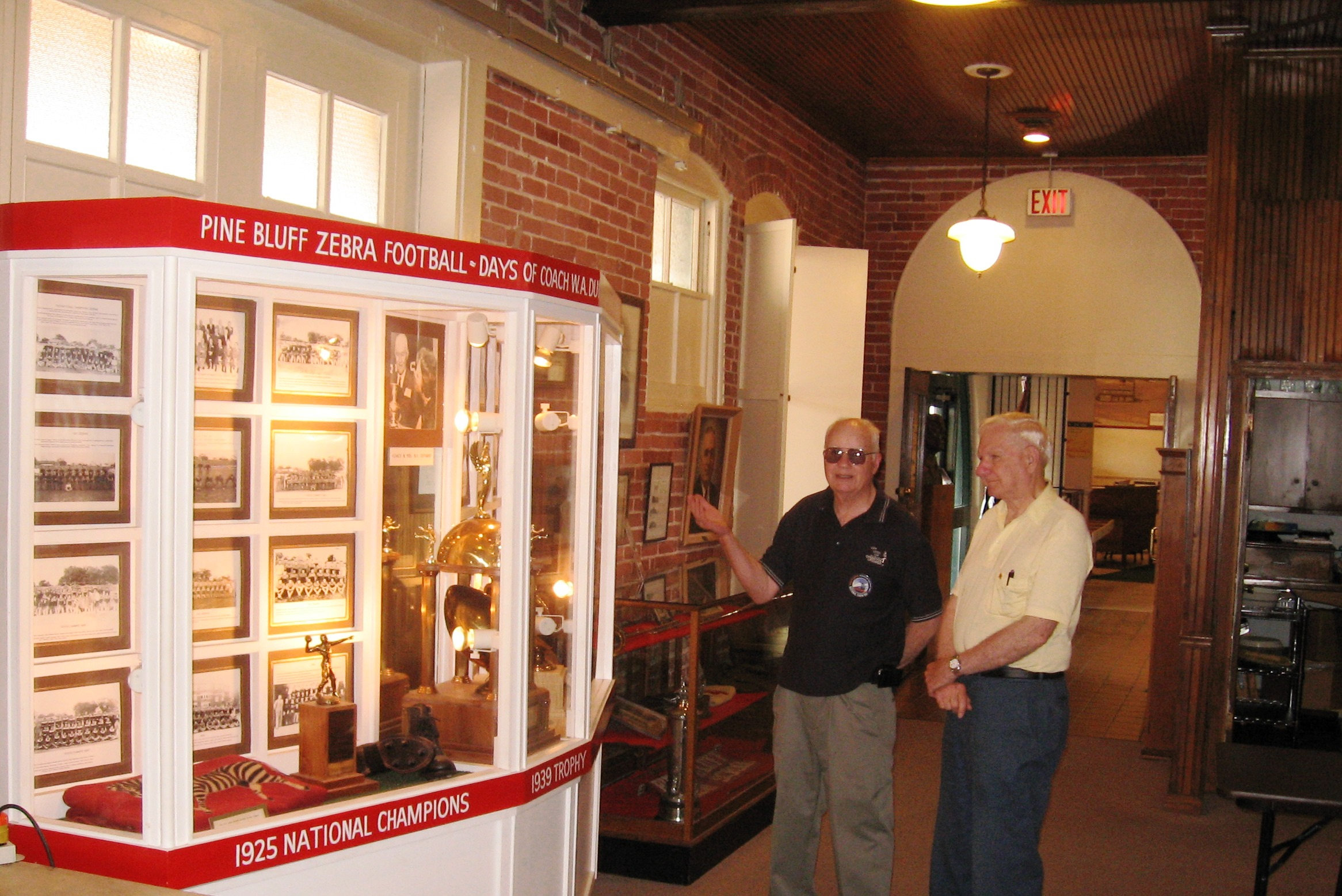 Visitors at the Pine Bluff/Jefferson County Historical Museum, located in the restored Union Station Depot