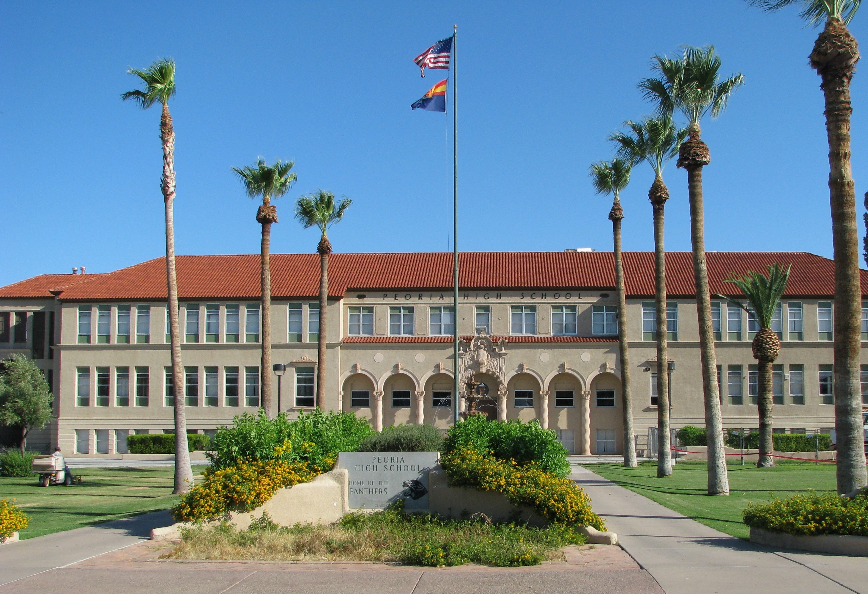 The Old Main High School Building in Peoria, Arizona
