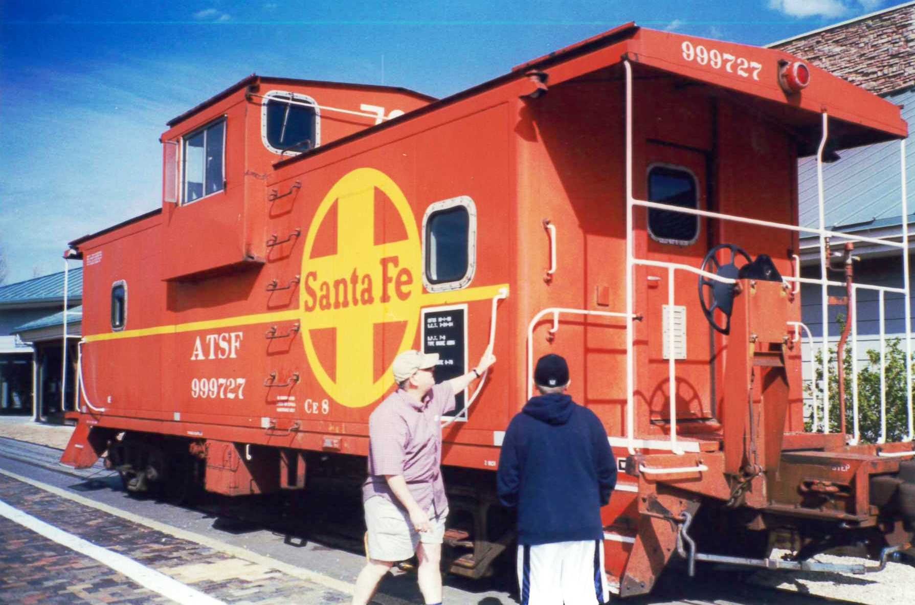 The Arizona State Railroad Museum in Williams features a Santa Fe Railroad caboose