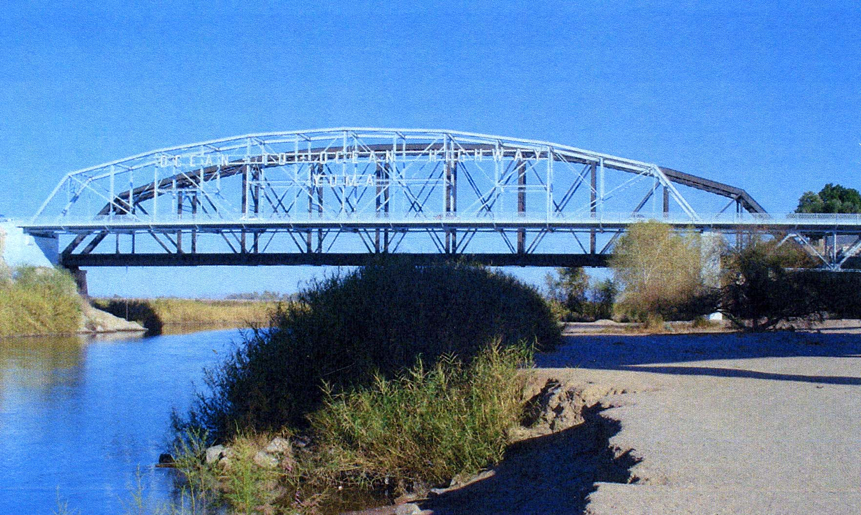 The fully restored Ocean-to-Ocean Bridge, built in 1915 and reopened in 2000, links the City of Yuma and the Quechan Indian Nation.