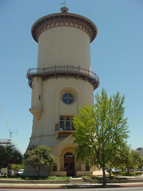 An important landmark and symbol of the community is its Romanesque-style Fresno Water Tower (1894), now used as a tourist information center.