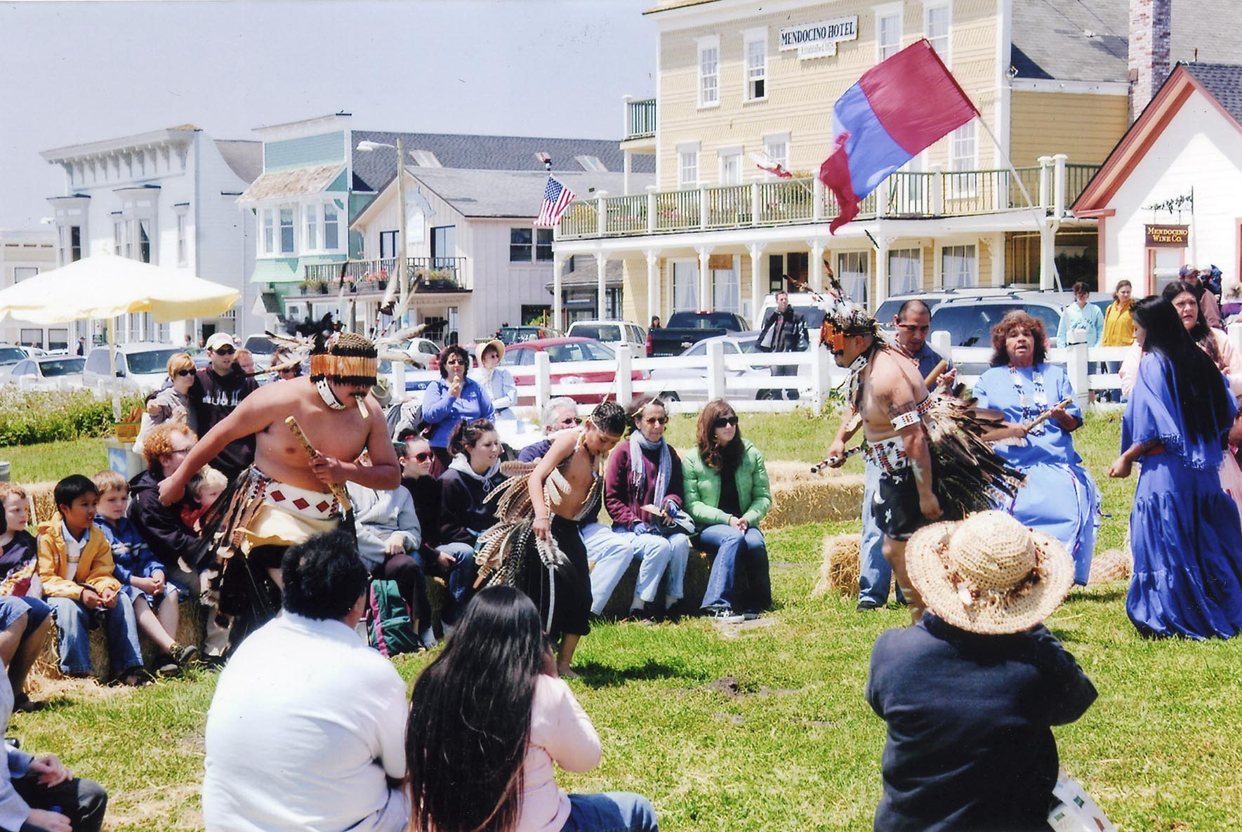 Each year, Mendocino celebrates Heritage Days, featuring living history reenactments.