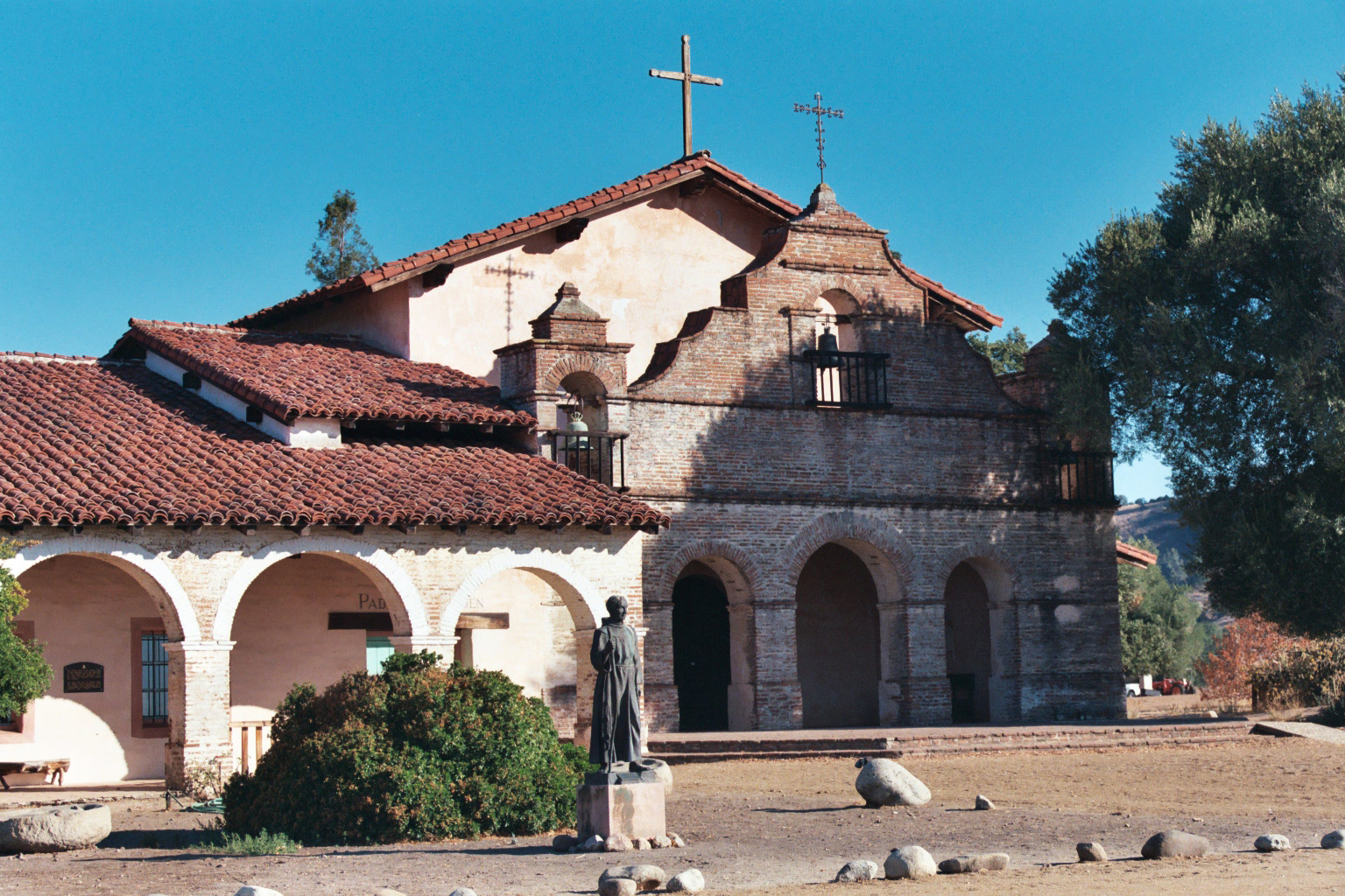 The historic Mission San Antonia de Padua in Monterey County, California. The Mission is the sponsor of an annual living history festival.
