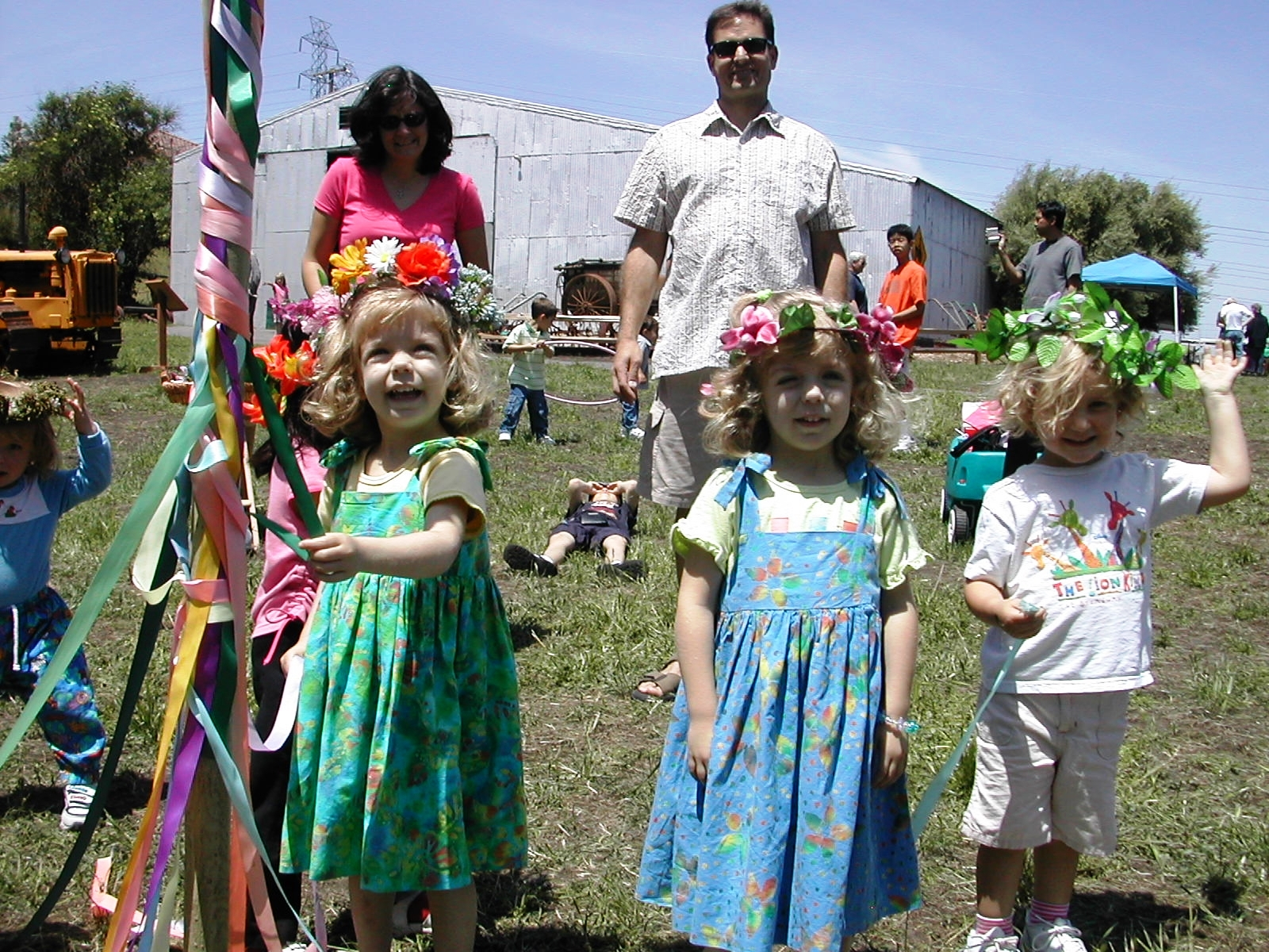 Children enjoy a May Pole at Forest Home Farms, a site which celebrates the agricultural history of the San Ramon area.