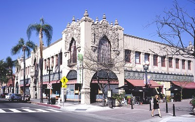 The Santora Building is a 1928 Spanish Colonial Revival structure boasting a distinctive facade. From 1934 to 1944, Daninger's Tea Room occupied much of the second floor, attracting the likes of Jack Benny, Milton Berle, Lucille Ball, Gracie Allen, and George Burns. Today, the Santora is home to art galleries, stores and restaurants.