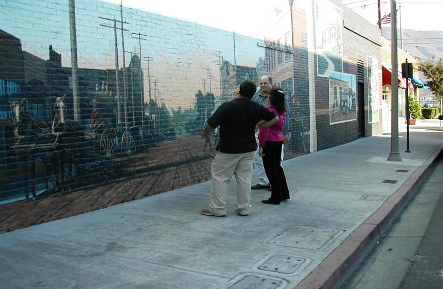 Part of a downtown revitalization, this mural depicts Main Street Santa Paula in 1910