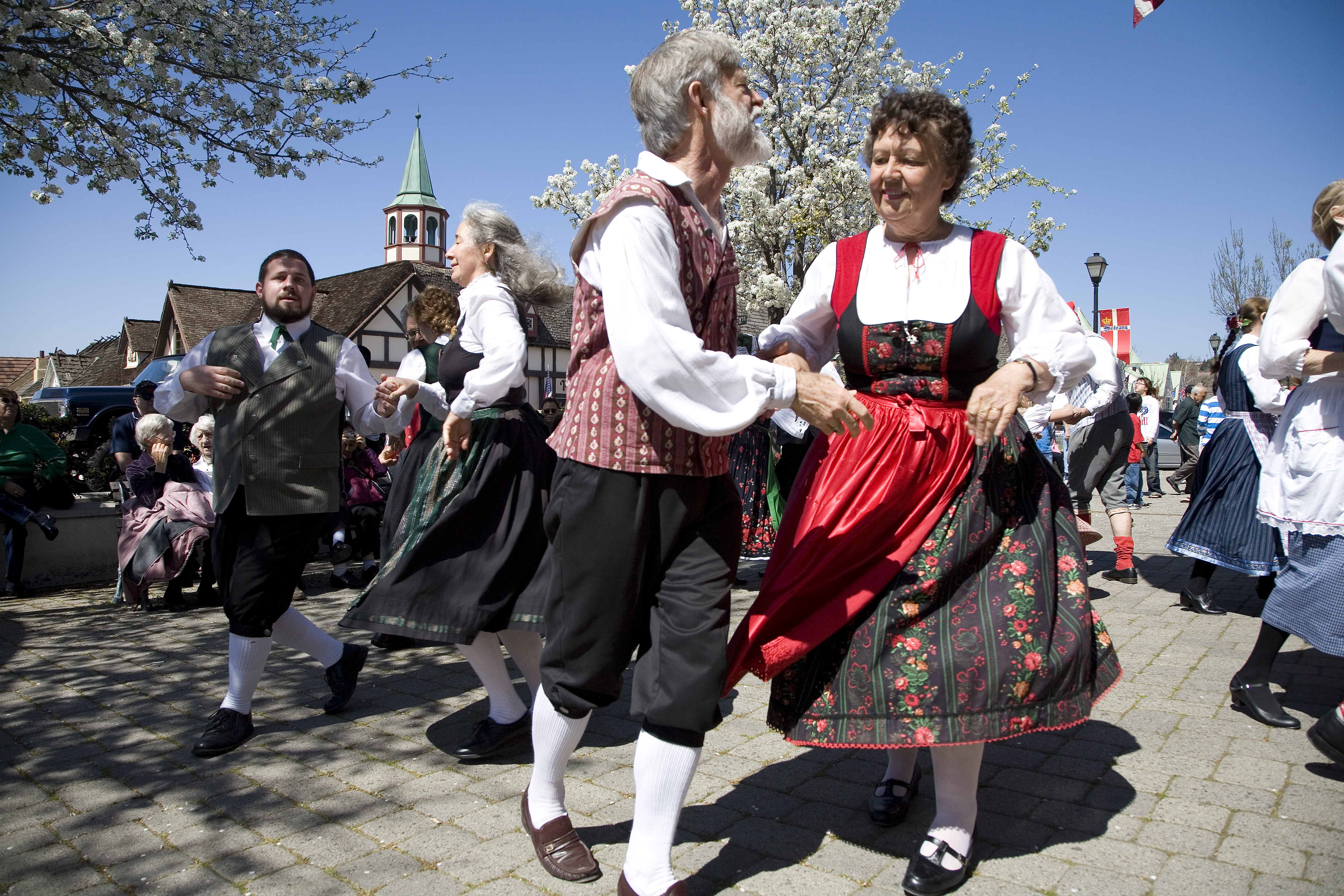 The Danish Days Festival is an annual event in Solvang, California, dating to 1936. The event honors Solvang's Danish heritage through traditional music, dancing, food, folk art, and storytelling.