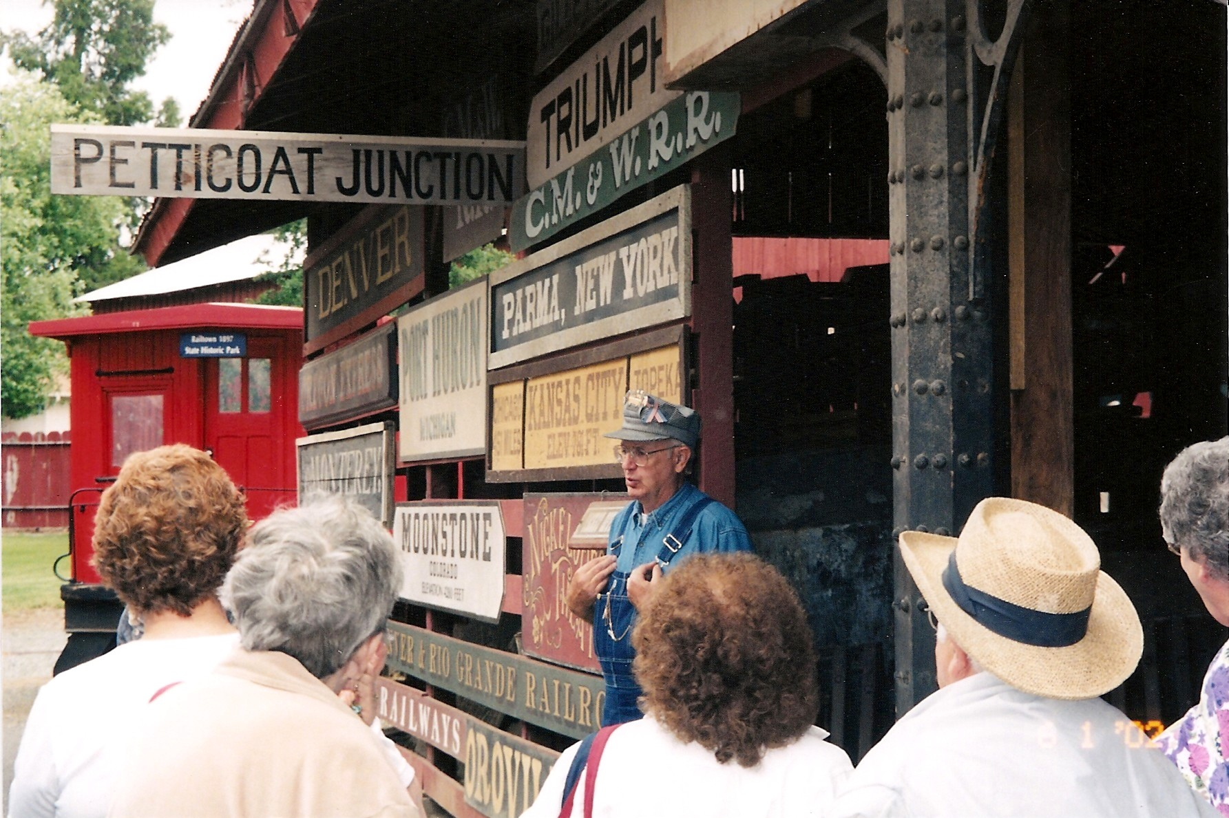 An interpreter shares the history of Railtown 1897 State Historic Park with visitors