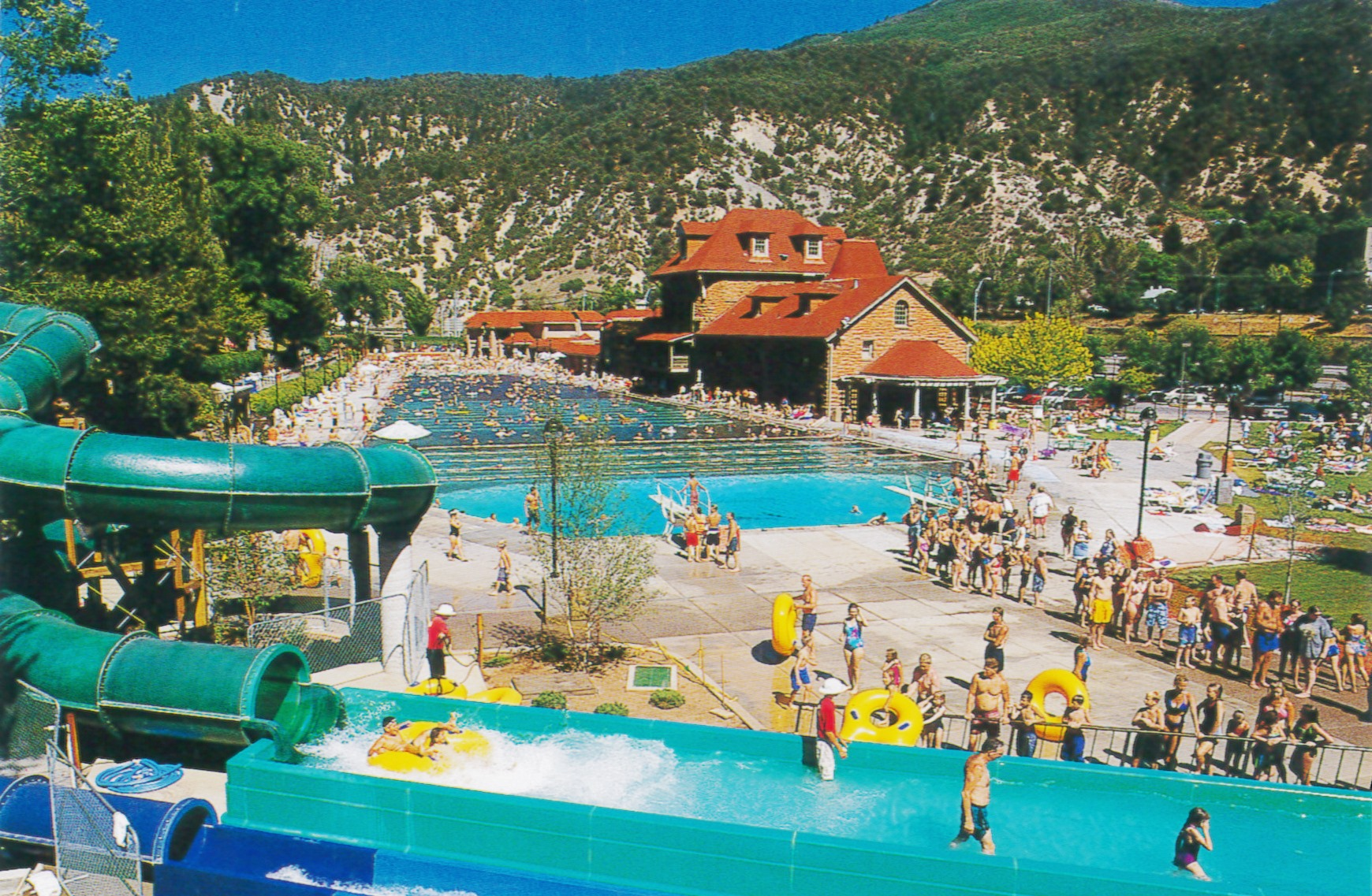 Glenwood Springs, Colorado, is home to the largest outdoor mineral hot springs pool in the world. Resort facilities were built in the 1880s.