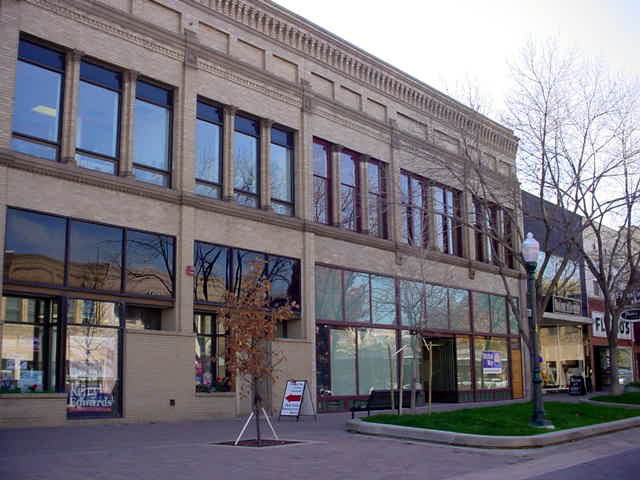The historic Buckingham Gordon building in Greeley, Colorado, after completion of a facade renovation.