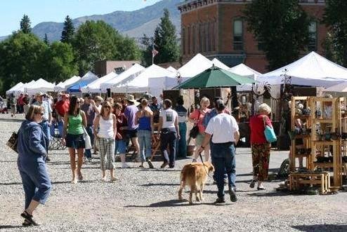 A craft market in historic downtown Lake City, Colorado