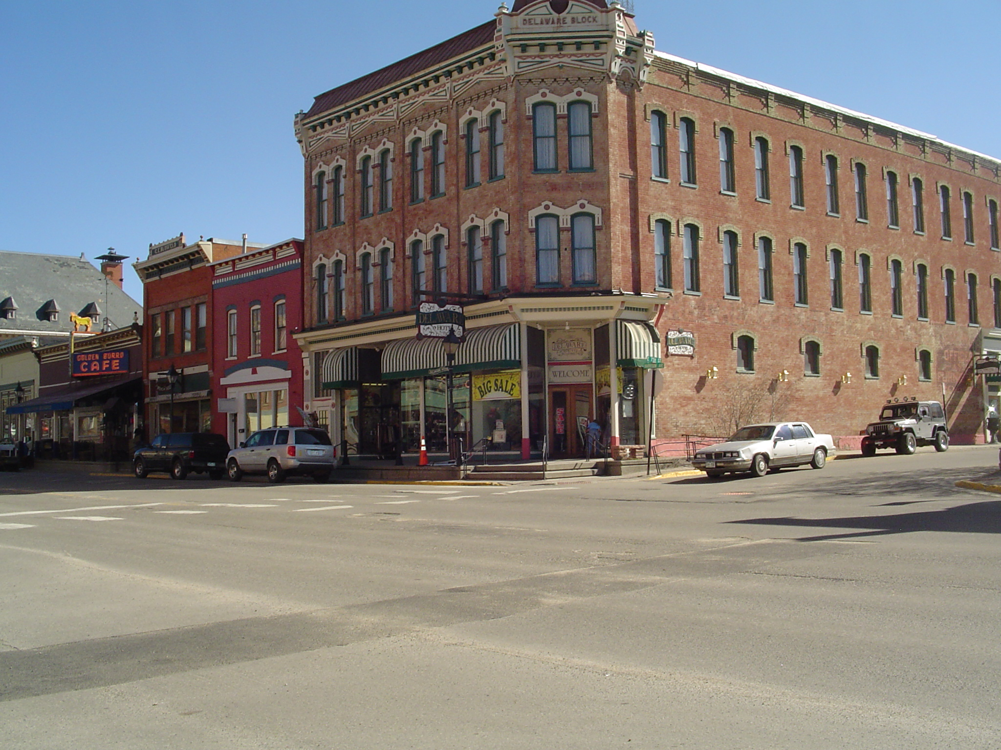 The Lower Level Of Historic Delaware Hotel In Leadville Colorado Built 1886