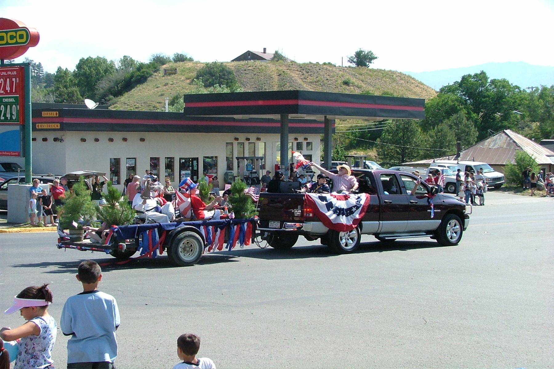 The Red Ryder Roundup Parade in Pagosa Springs, Colorado. The Red Ryder Roundup has featured a rodeo, dance, parade, carnival, and fireworks every Fourth of July since 1953.