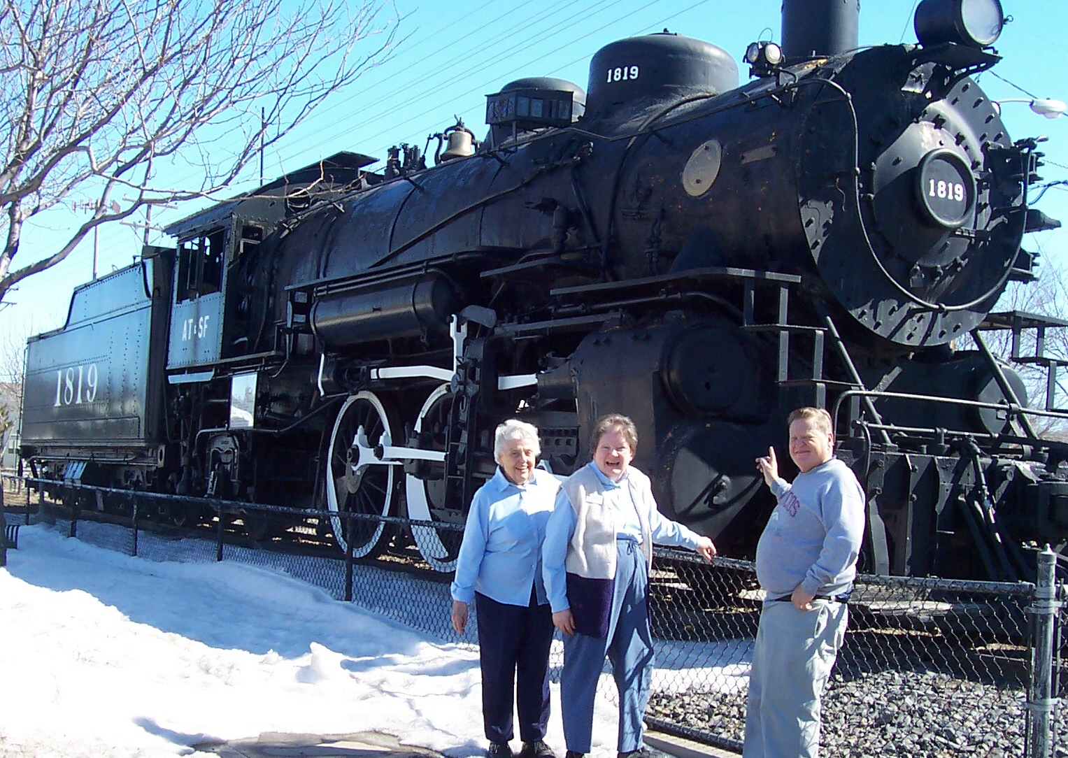 A vintage 1819 locomotive adjacent to the Colorado Welcome Center in Lamar is a local attraction.