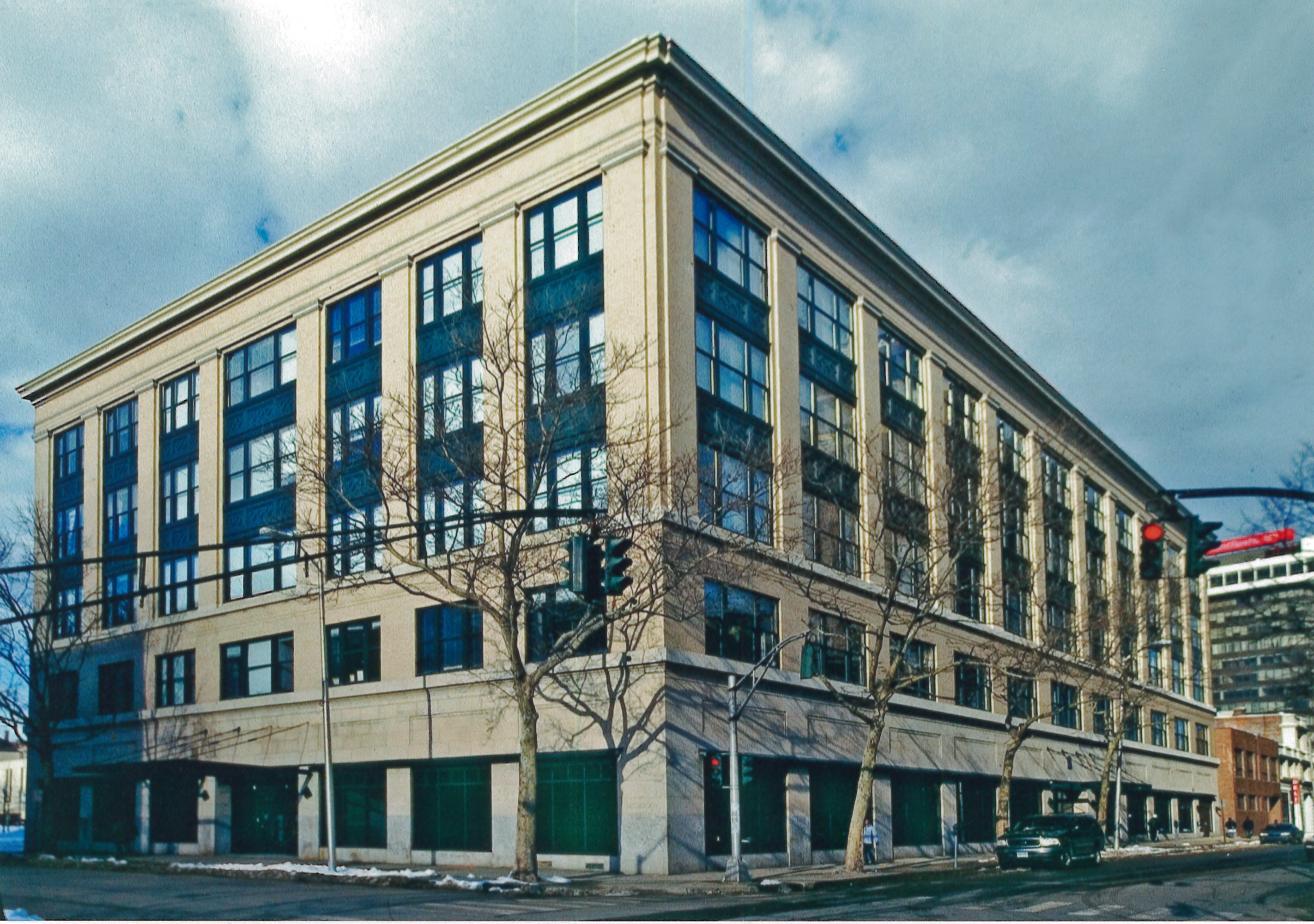 Sterling Market Lofts in Bridgeport, Connecticut, after renovation