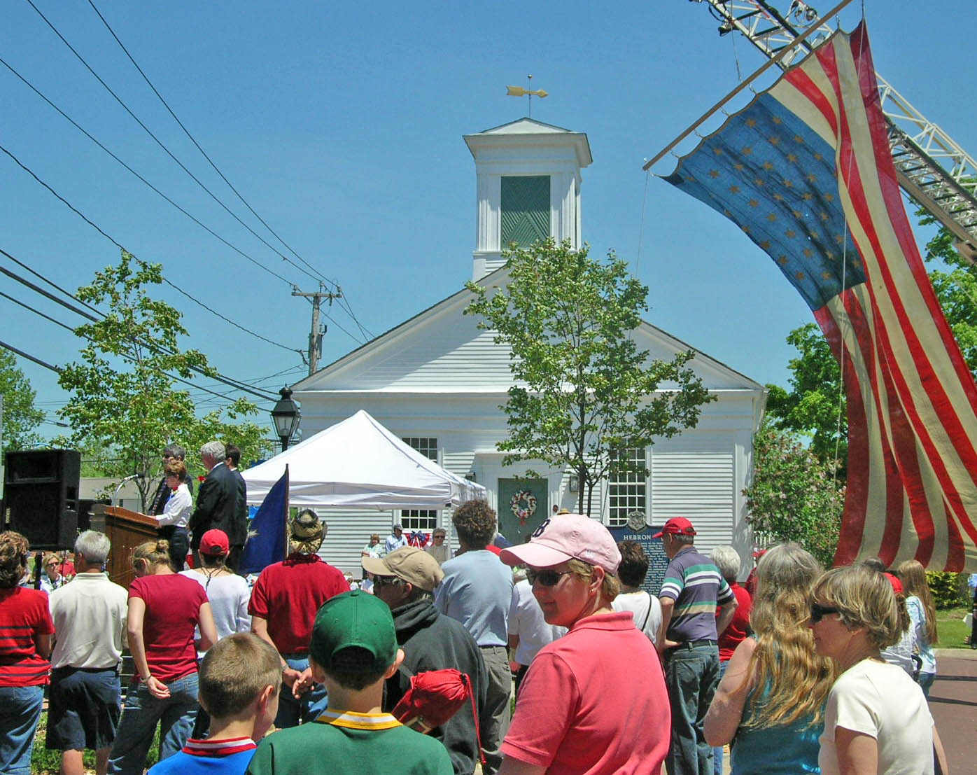 Celebrating the 300th anniversary of Hebron, Connecticut at the Old Town Hall