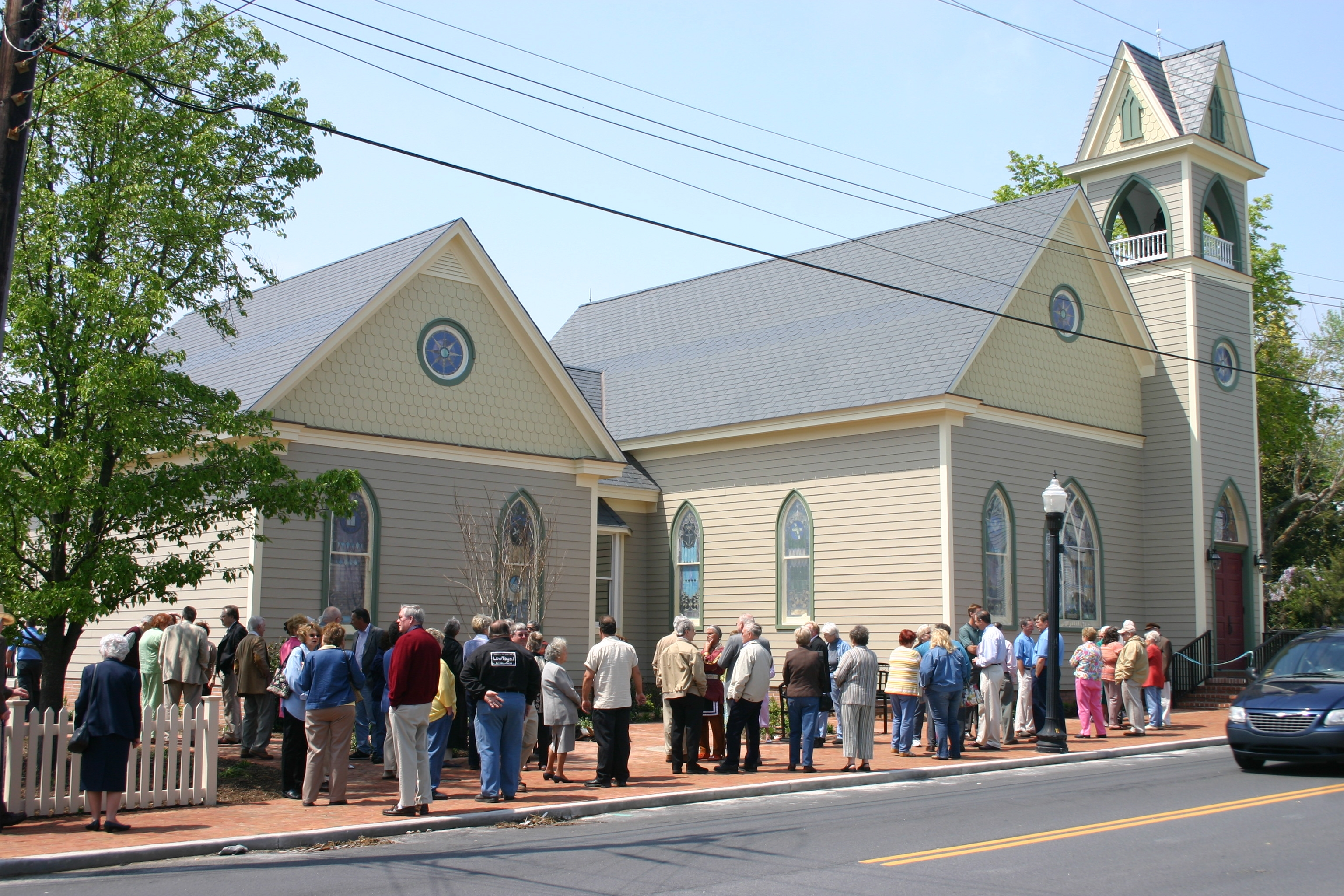 Opening day of the Milton Historical Society Museum, housed in a former Methodist Church originally built in 1857.
