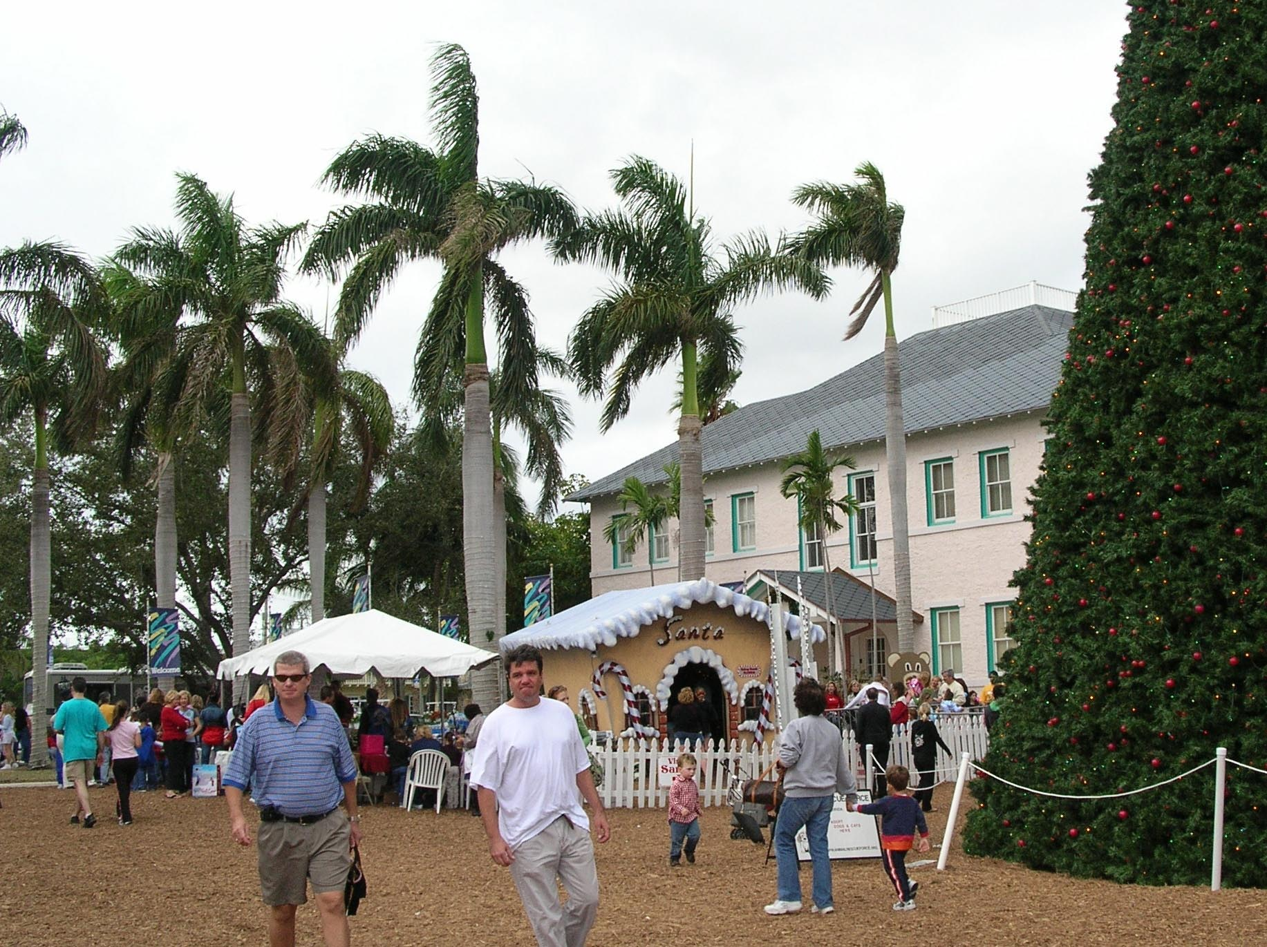 A holiday event at the The Cornell Museum of Art and American Culture, housed in the restored 1913 Delray Elementary School building.