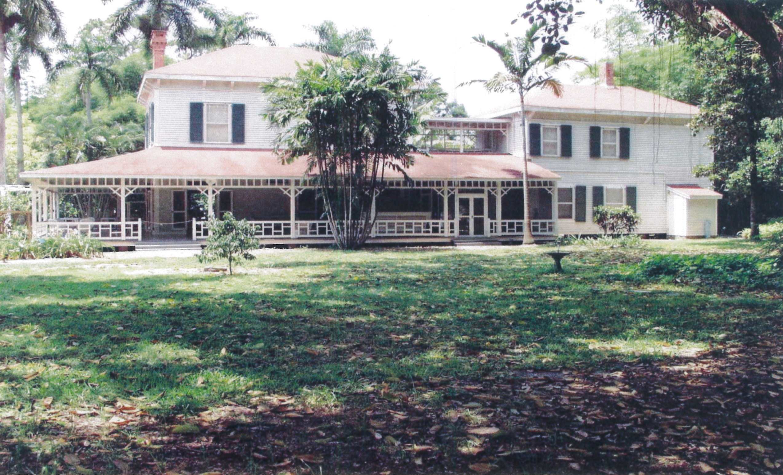 The Main House at Thomas Edison's winter estate in Fort Myers. The complex also includes a guest house and a laboratory.
