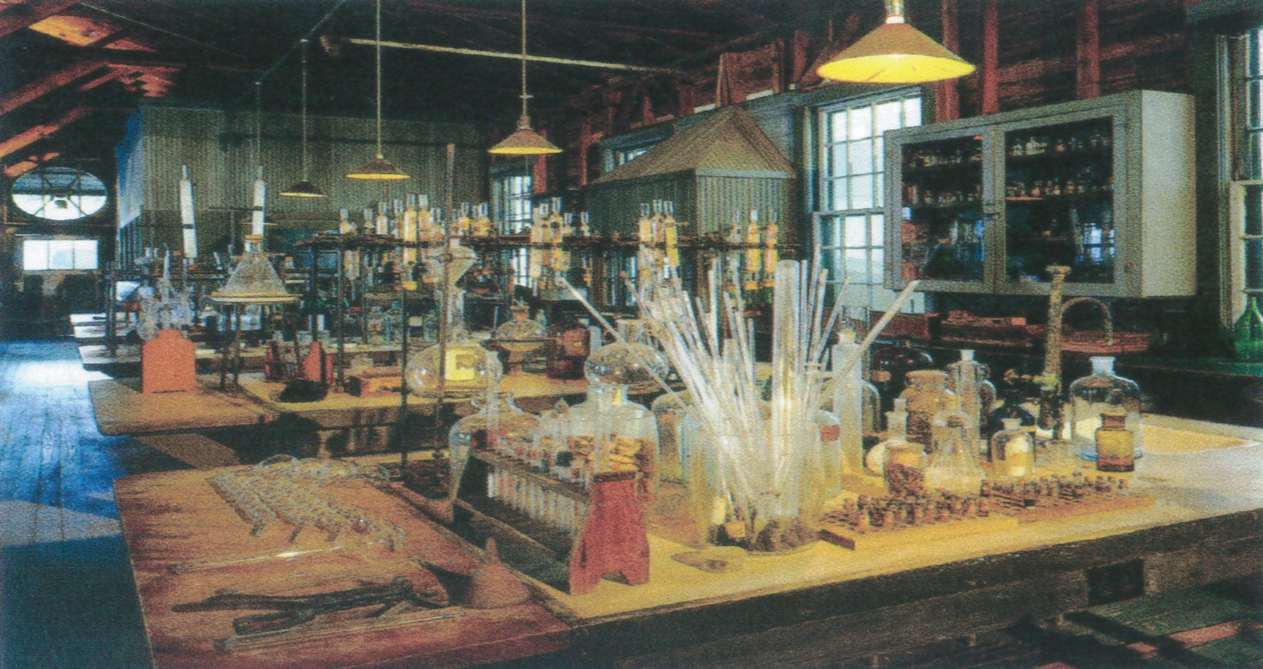 The interior of Thomas Edison's laboratory at his winter estate in Fort Myers, Florida