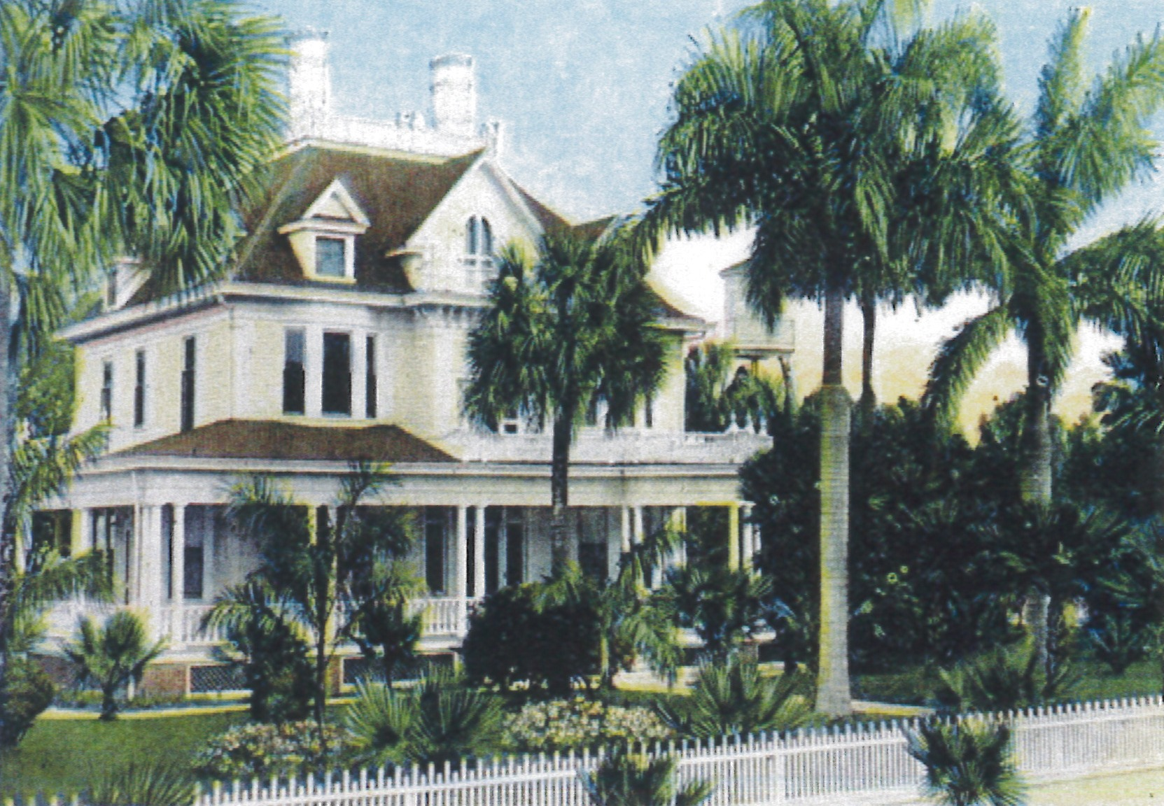 The Georgian Revival style Murphy-Burroughs Home (c. 1901) in Fort Myers, Florida