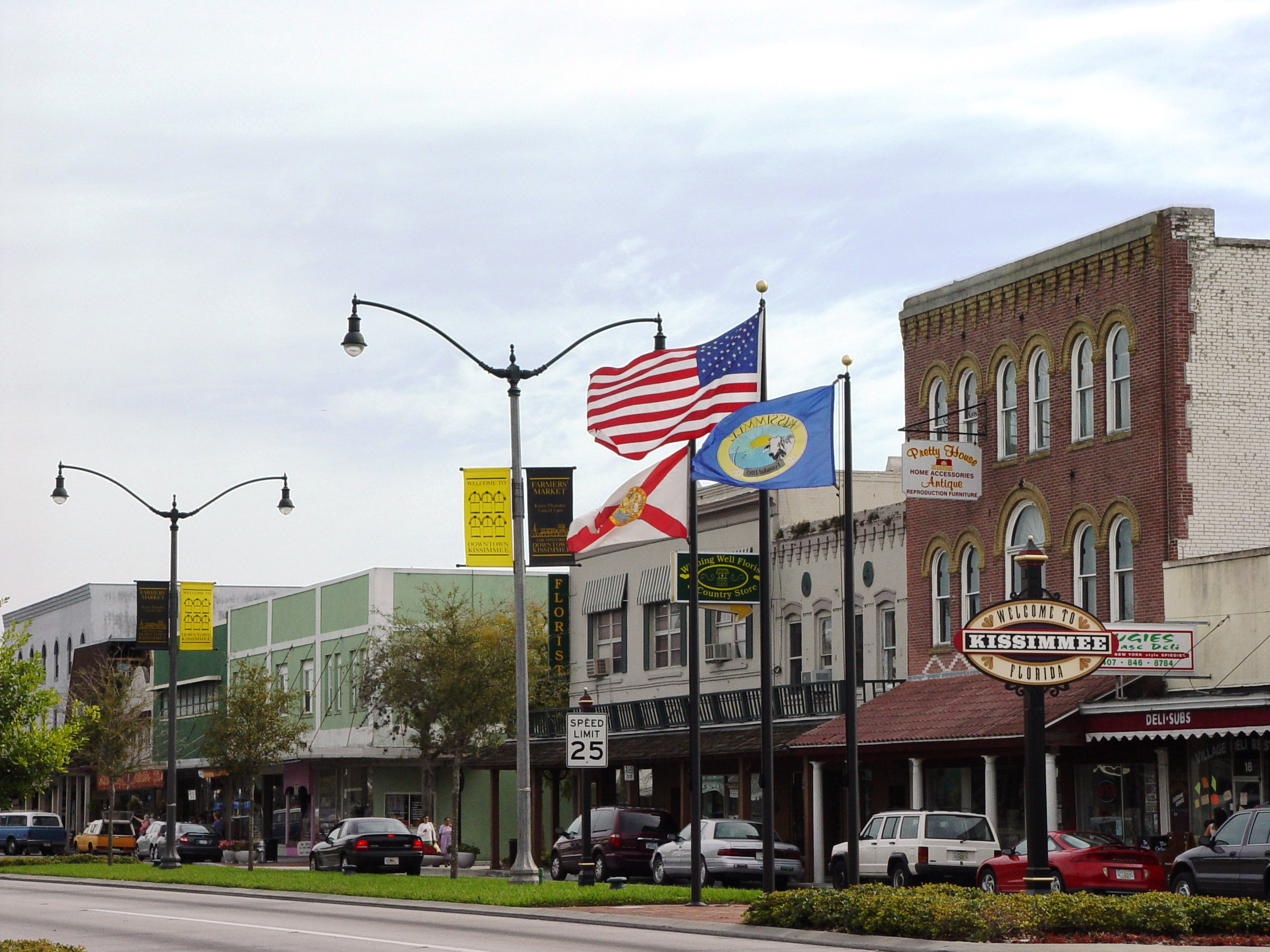 Historic buildings in downtown Kissimmee, Florida