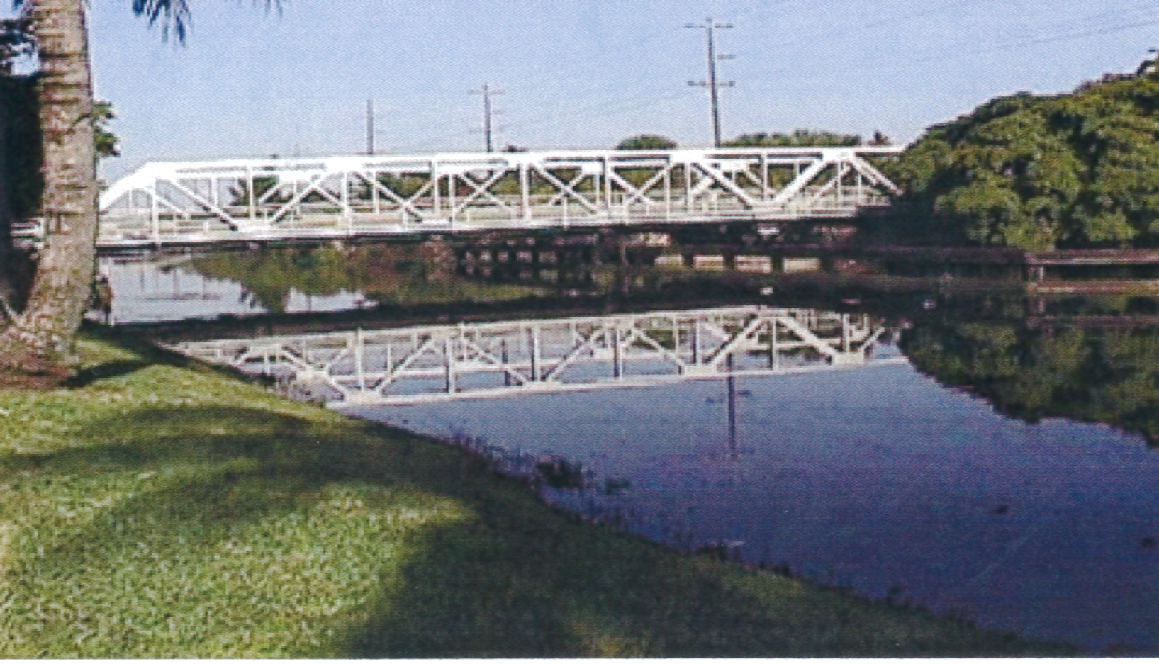 The Warren Pony Swing Bridge crossing over the Miami Canal from Hialeah to Miami Springs was built in 1924