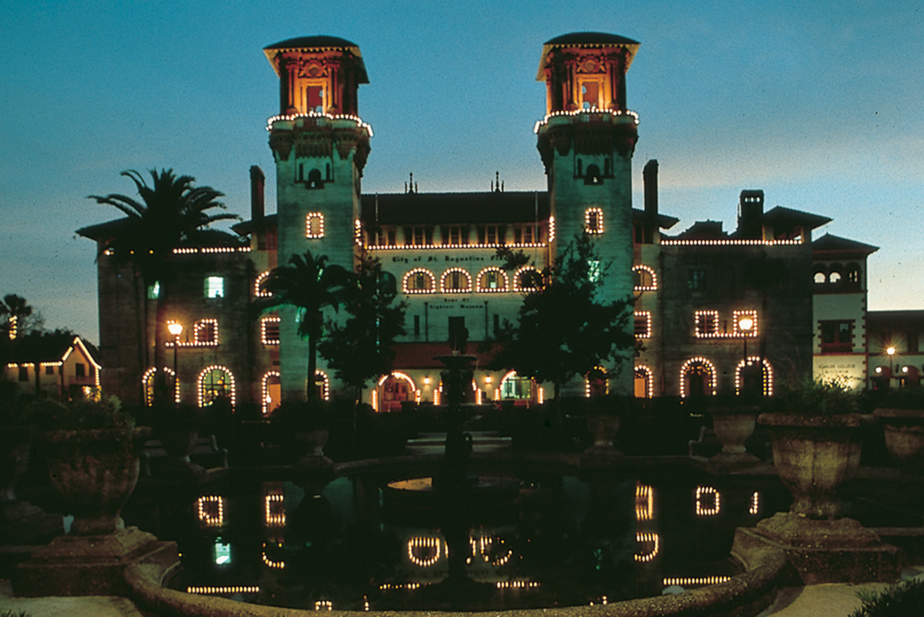St. Augustine's City Hall is one of many buildings lit up in December and January for the Annual Nights of Lights festival.