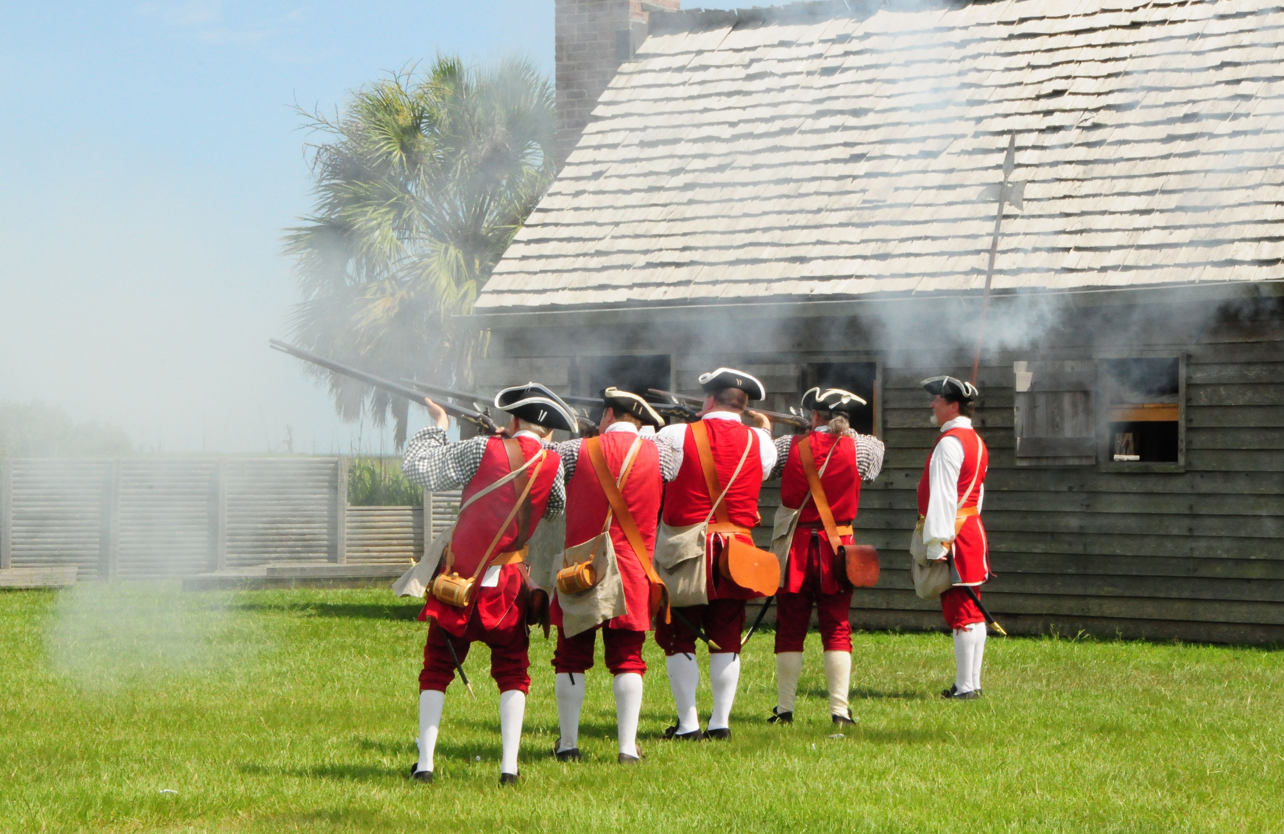 Fort King George, listed on the National Register of Historic Places, hosts two major reenactments each year. The fort served as the southernmost British Colonial outpost on the Atlantic seaboard in the early 1700s, discouraging attacks from the Spanish and French.