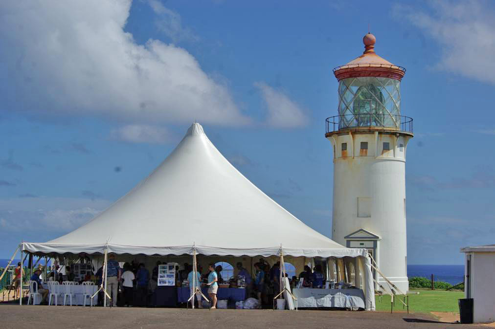 The historic Kilauea Lighthouse, located in the Kilauea Point National Wildlife Refuge, is one of the most popular visitor attractions on Kaua`i.