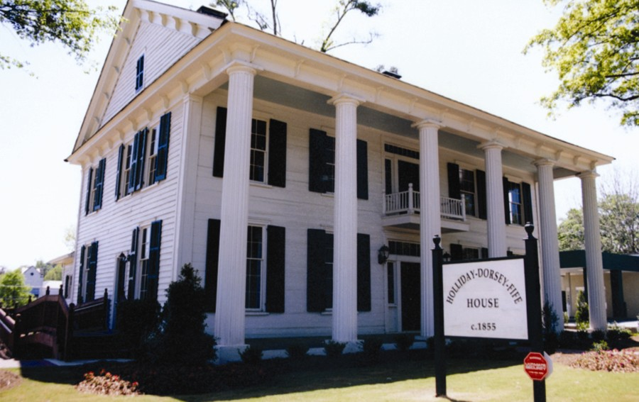 "The Holliday-Dorsey-Fife House (1855) was originally built by an uncle of ""Doc"" Holliday of western fame and has become Fayette County's first historical museum."