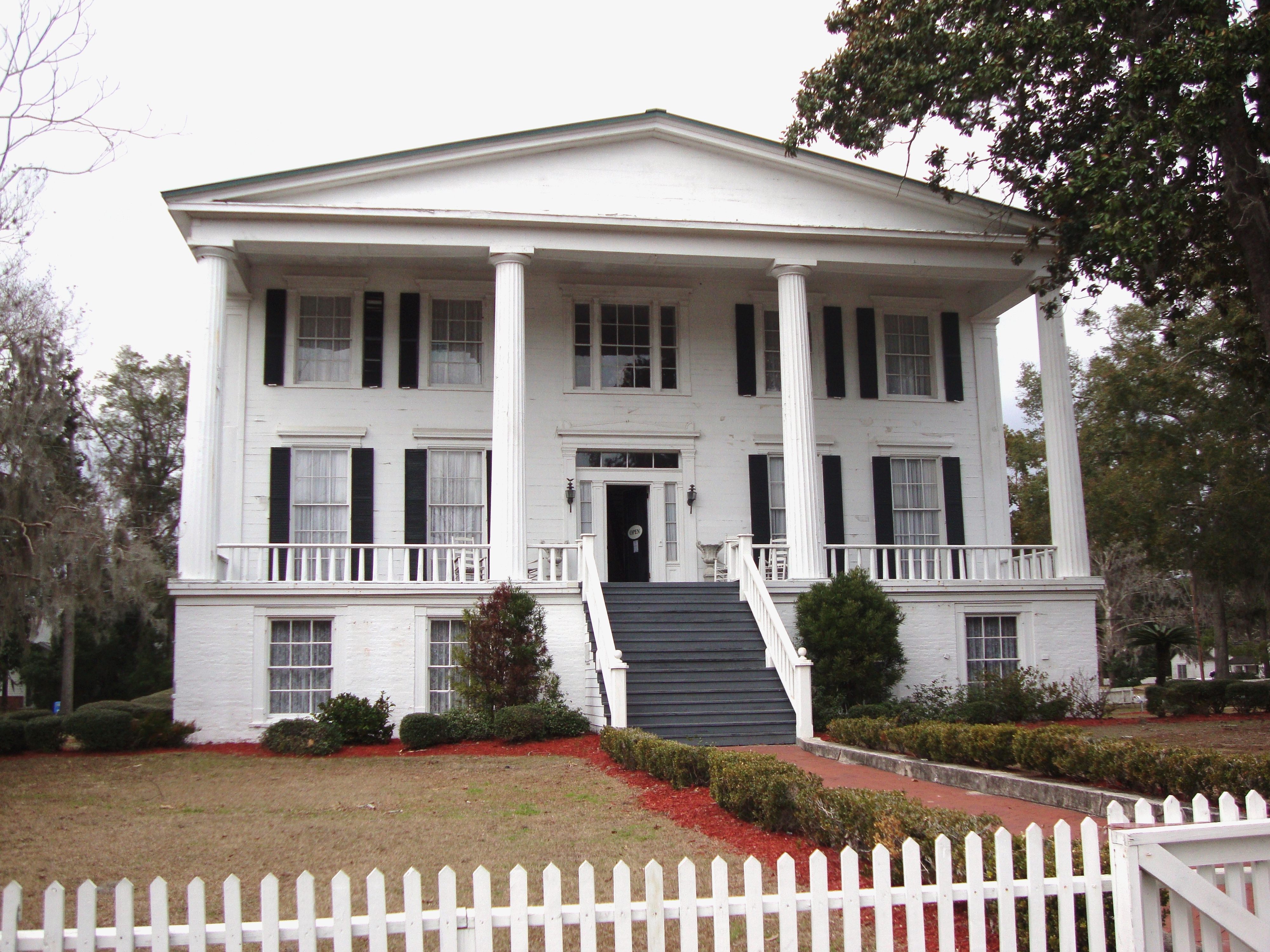 Orange Hall (1830), an antebellum home in St. Marys, Georgia, is one of the finest examples of the Greek Revival style in the state.