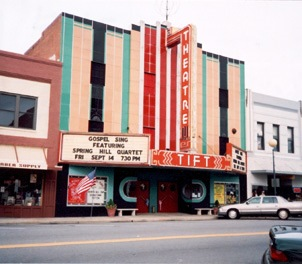 The restored Tift Theatre, an art deco style movie theater, presents concerts, plays, and dance performances.