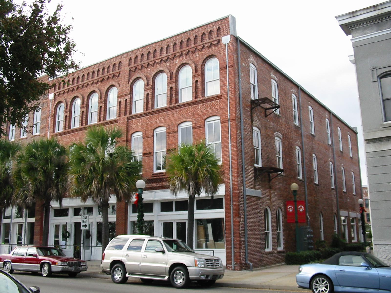After 40 years of being vacant, the Roberts Building in downtown Valdosta, Georgia, was restored in 2009 as part of redevelopment for mixed commercial and residential use. The building is a contributing element of the Valdosta Commercial Historic District.