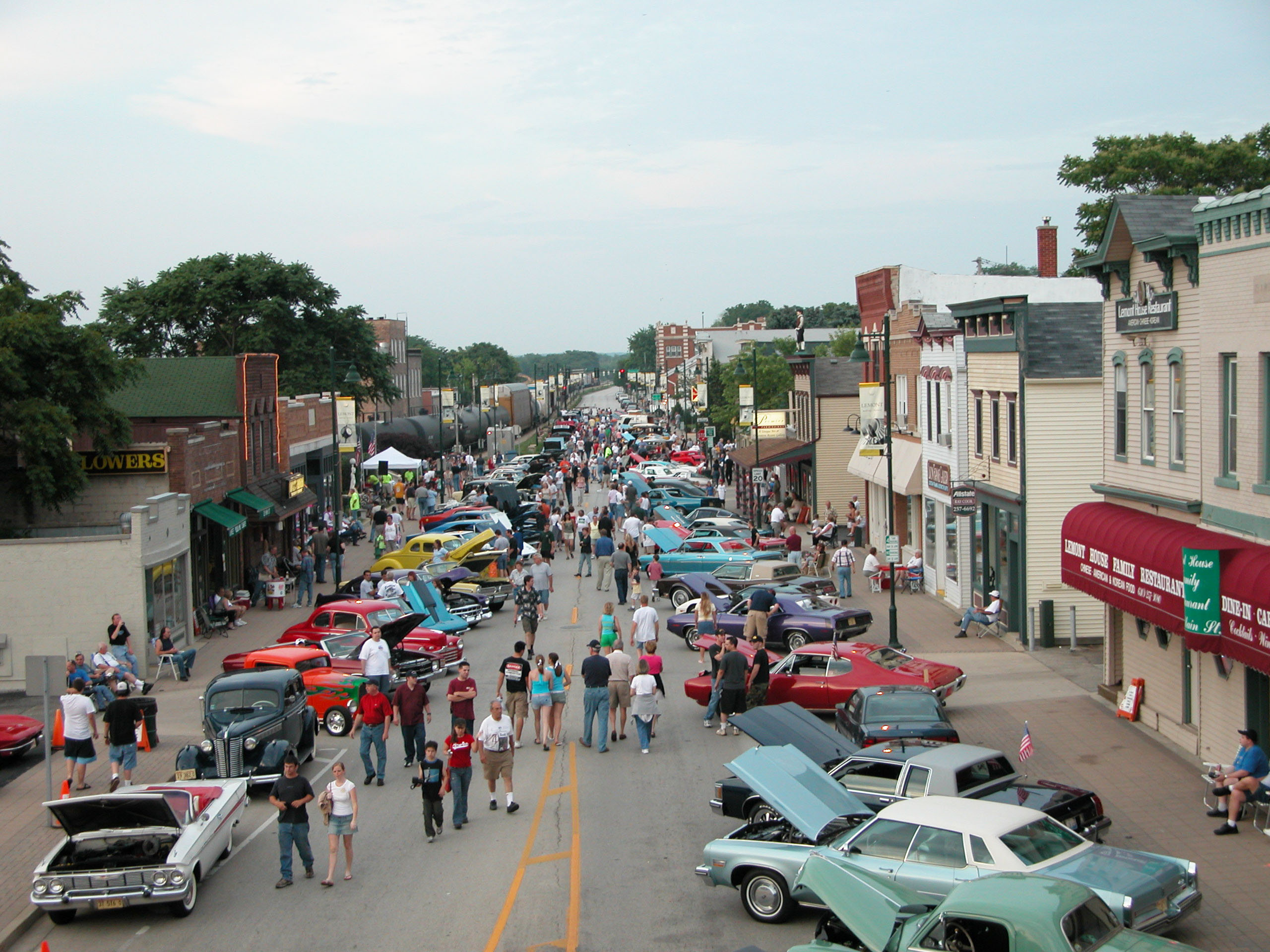 Cruise Nights are a weekly summer tradition in Lemont. Crowds come from around the area to admire classic cars in historic downtown Lemont.