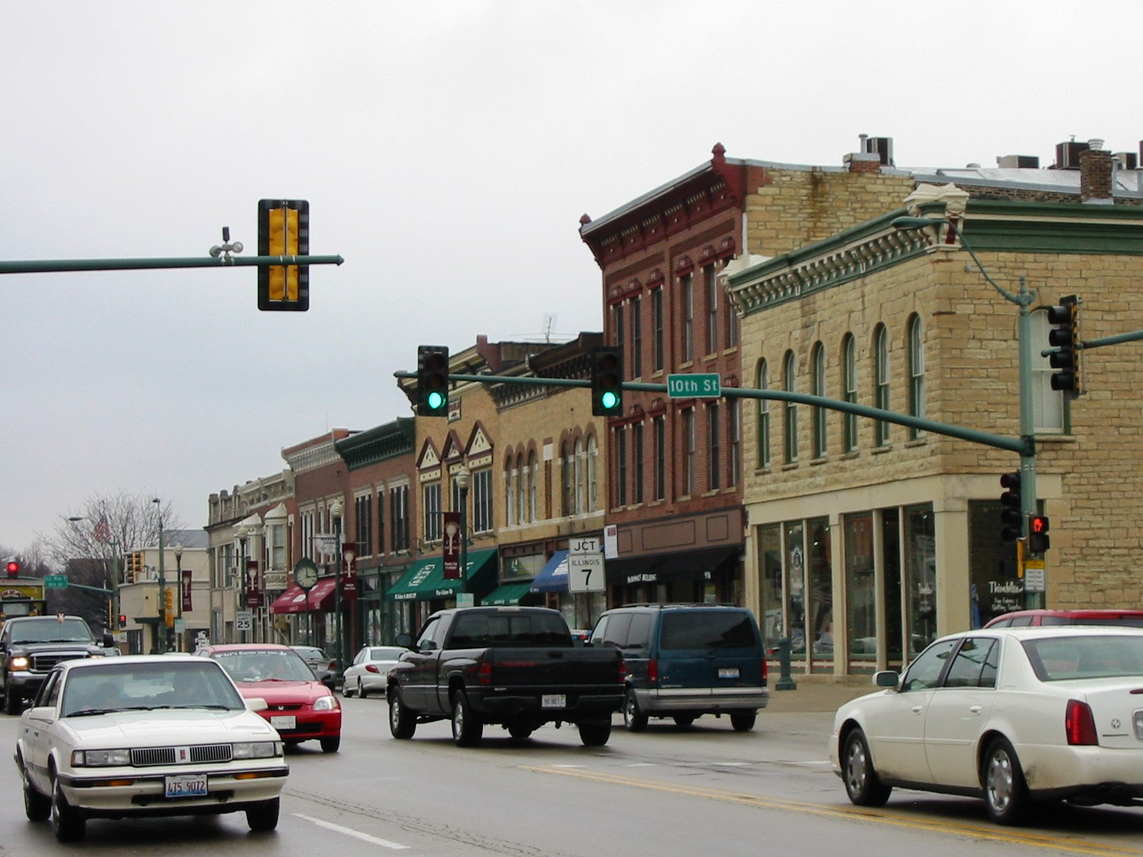 The Lockport Downtown Historic District features substantial limestone and brick buildings, which help make Lockport one of the best preserved canal towns in the country.