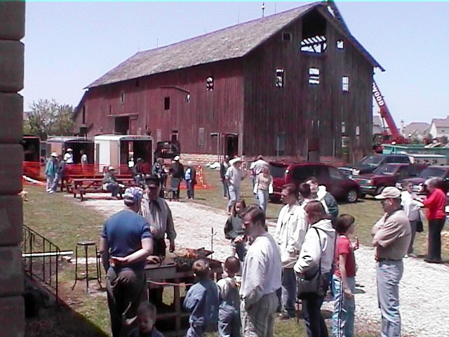 A barn raising in Will County, Illinois