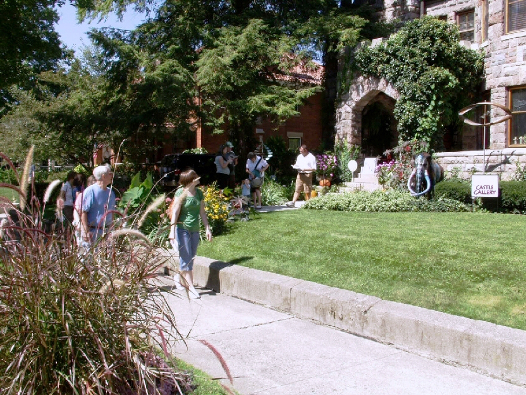 Participants enjoy an Historic Home and Garden Tour in Fort Wayne, Indiana's West Central Neighborhood.