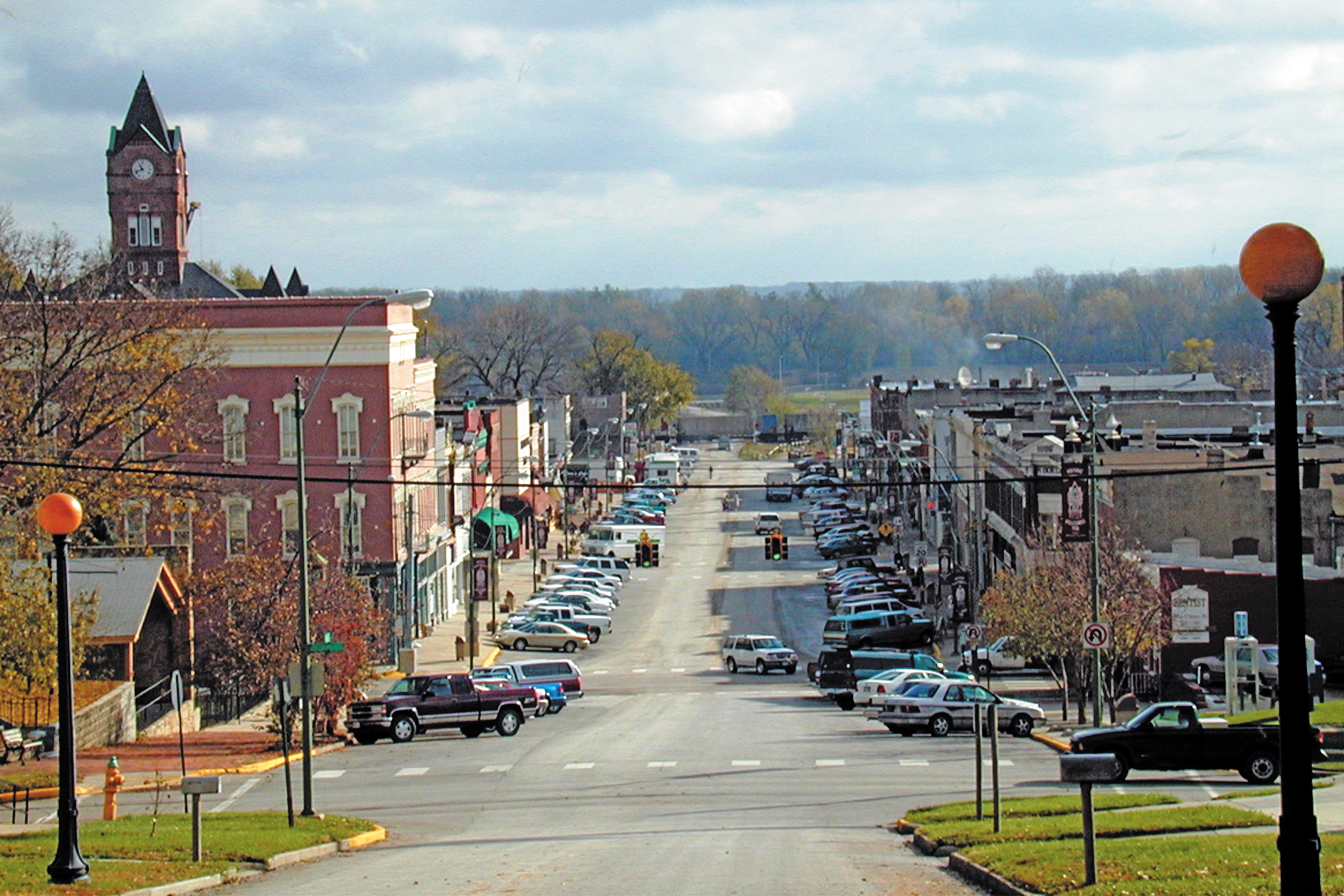 A view of Main Street in Plattsmouth, Nebraska