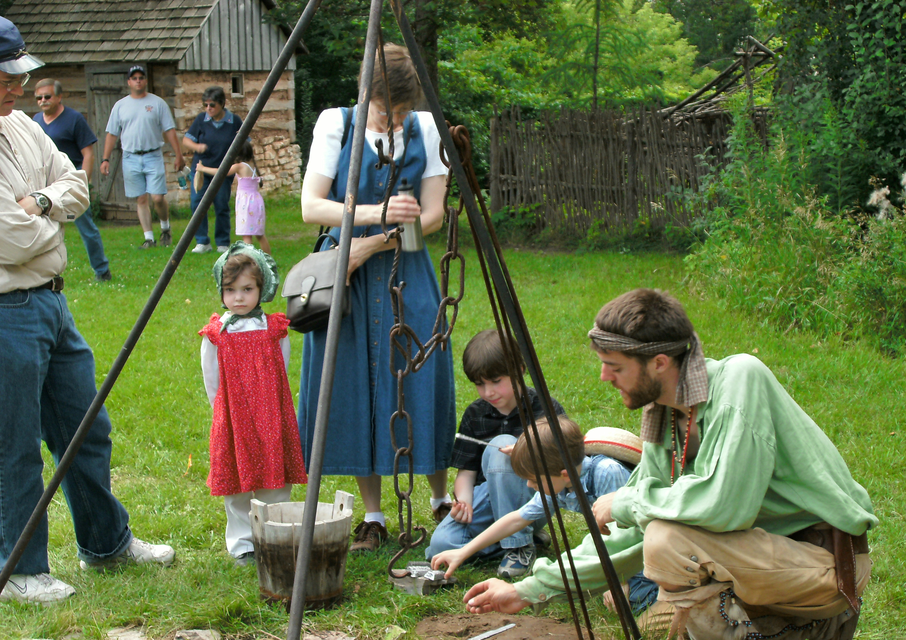 A living history event at Green Bay's Heritage Hill State Historical Park.