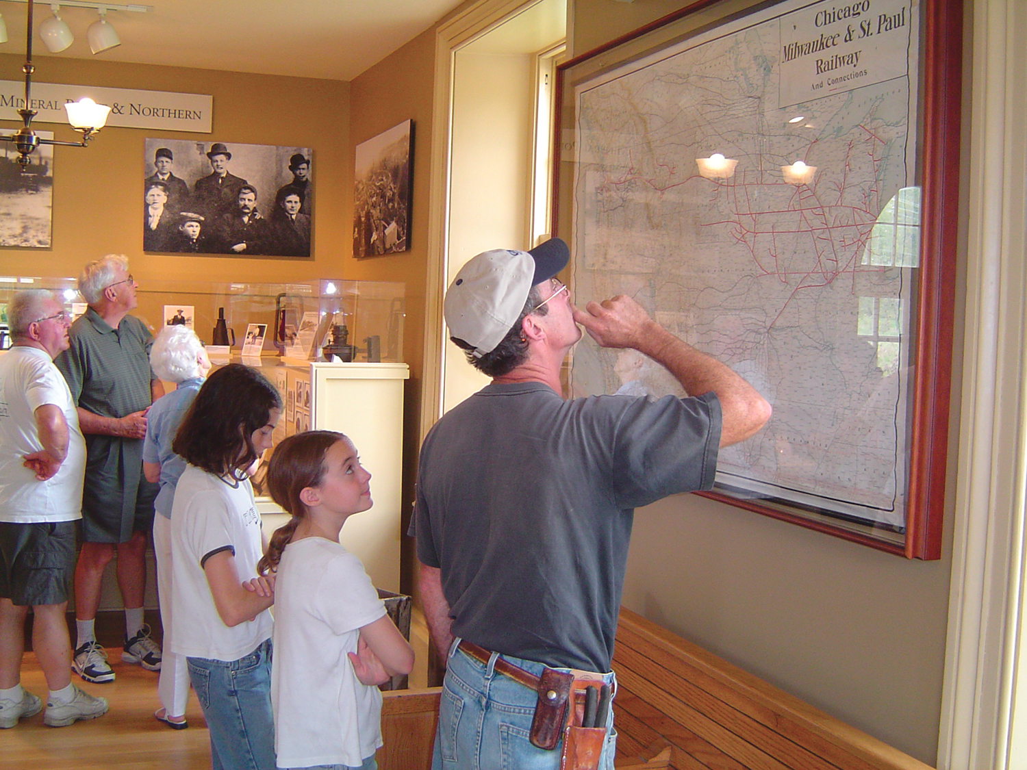 Visitors explore the Mineral Point Railroad Museum, the oldest standing depot in the state.