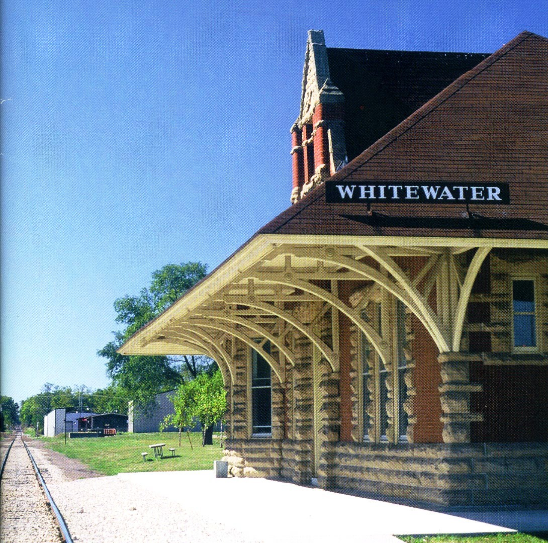 The 1890 train depot, home to Whitewater's Historical Society Museum.