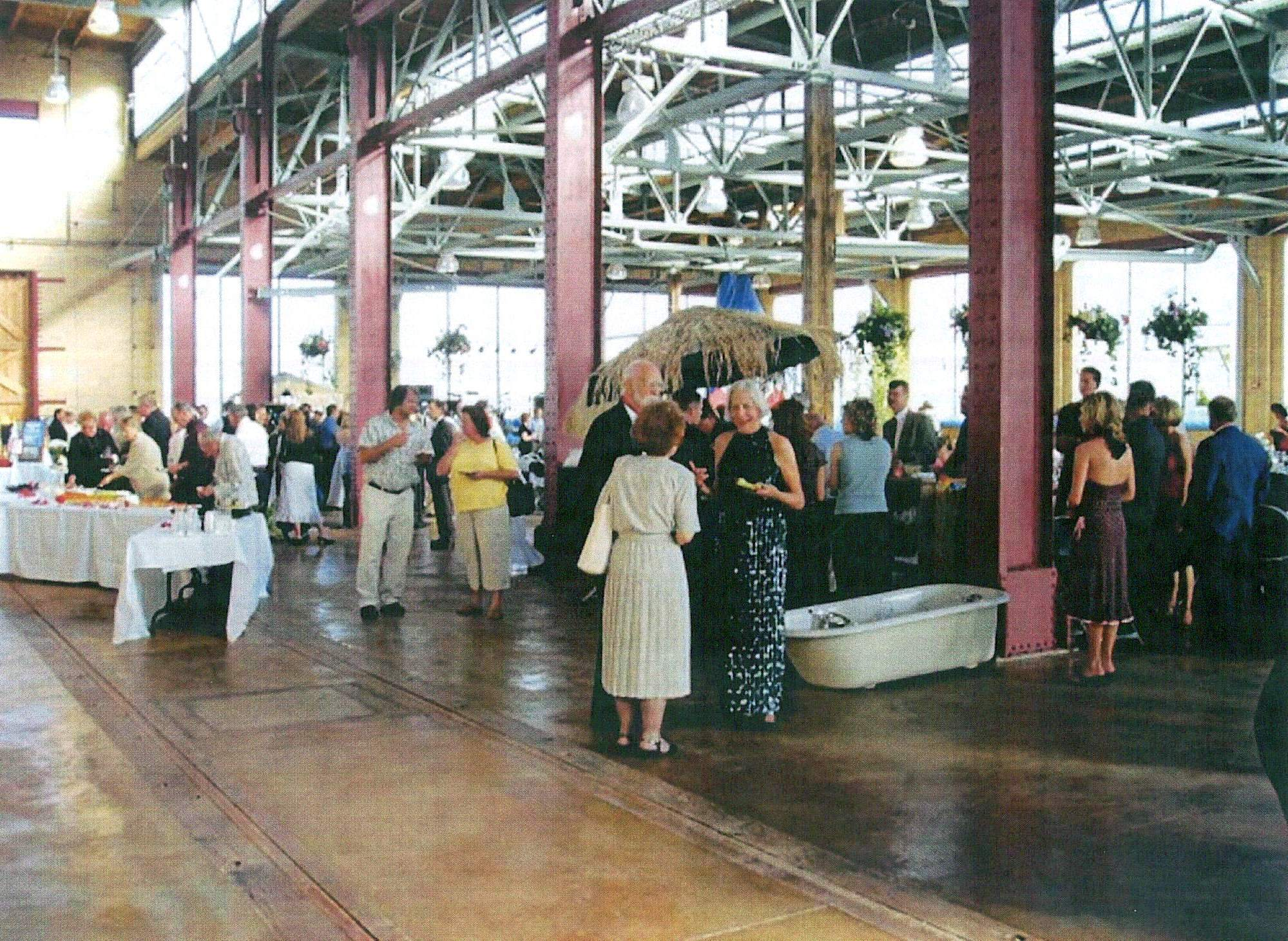 The restored Machine Shop at the historic Evanston Railroad Complex is used for public and private events.