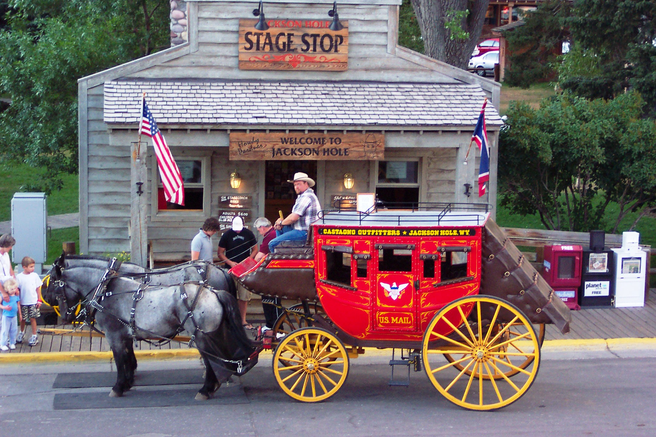 Stagecoach rides offer unique sightseeing in Jackson.